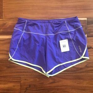 Reebok Playdry Running Shorts Purple NWT